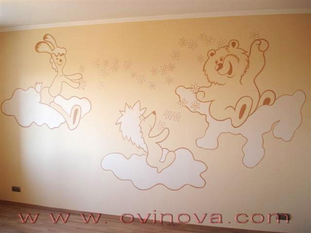 Рисунки на стенах в детском саду своими руками фото по фгос